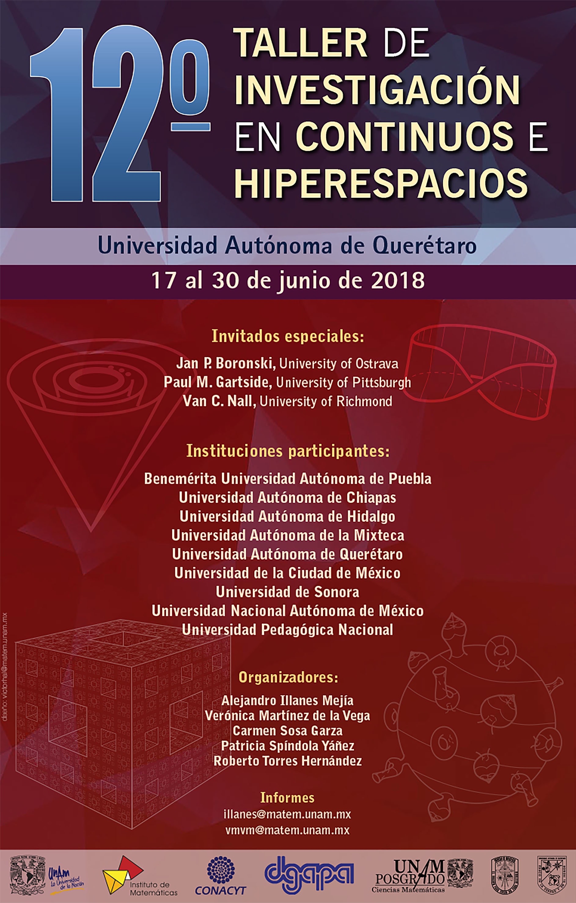 12º Taller de  Investigación en Continuos e Hiperespacios