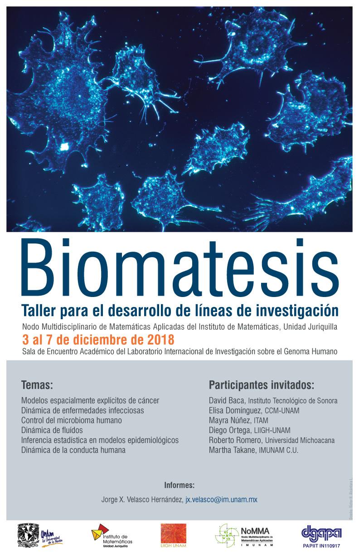 Biomatesis Taller para el desarrollo de líneas de investigación