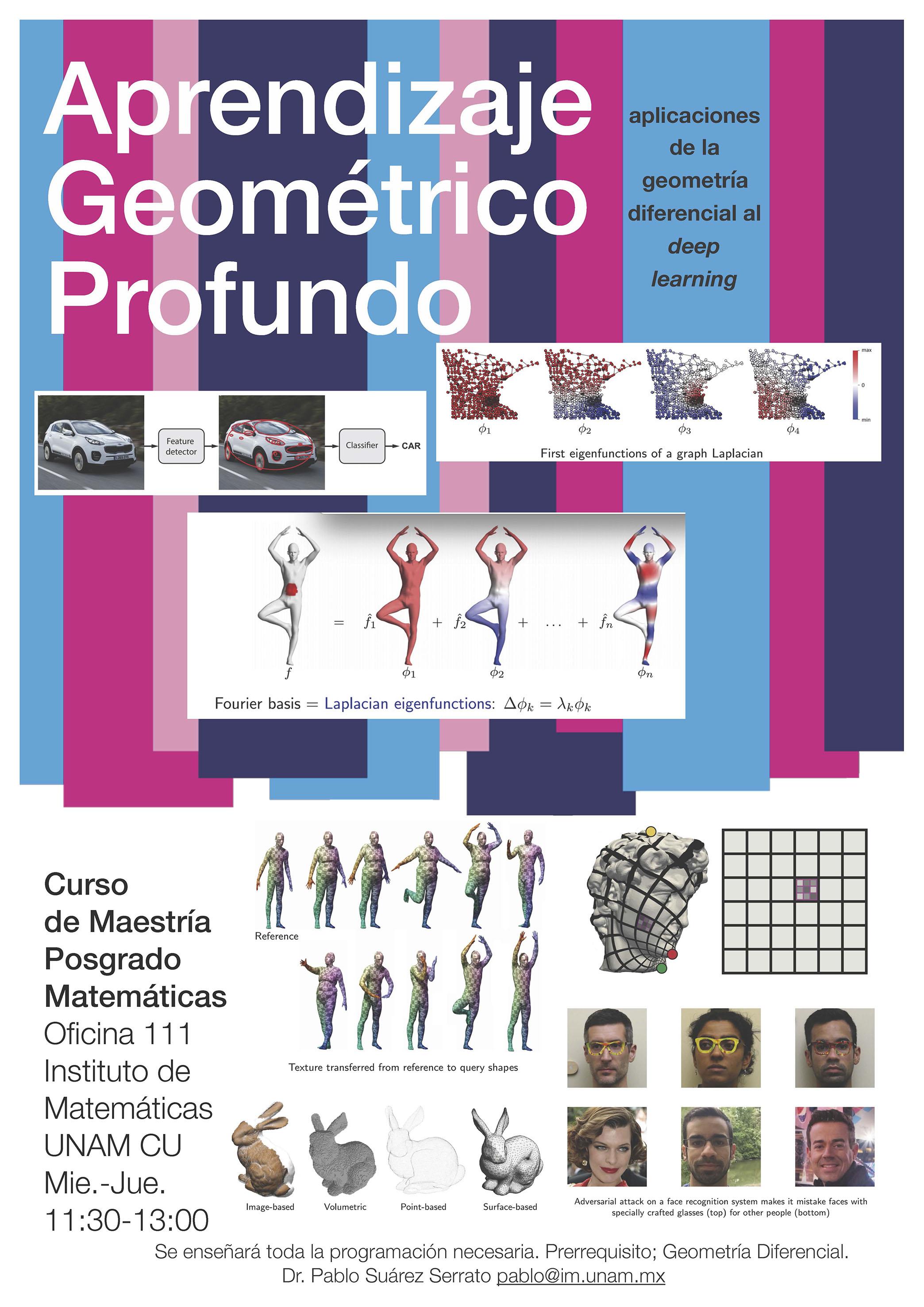 Curso: Aprendizaje Geométrico Profundo. Aplicaciones de la geometría diferencial al deep learning