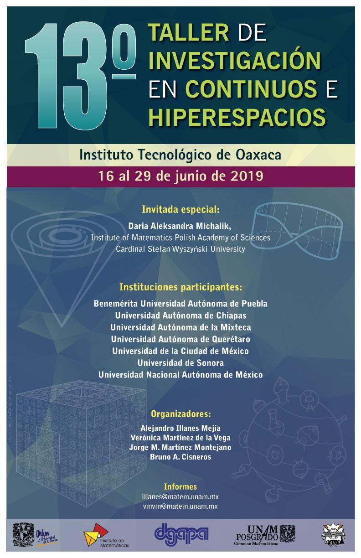 13º Taller de Investigación en Continuos e Hiperespacios