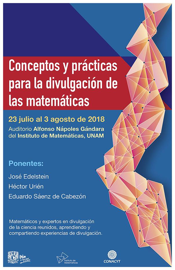 Cartel Curso: Conceptos y prácticas para la divulgación de las Matemáticas