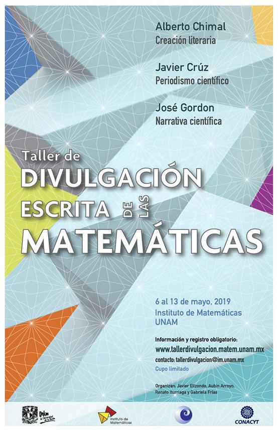 Cartel Taller de divulgación escrita de las matemáticas